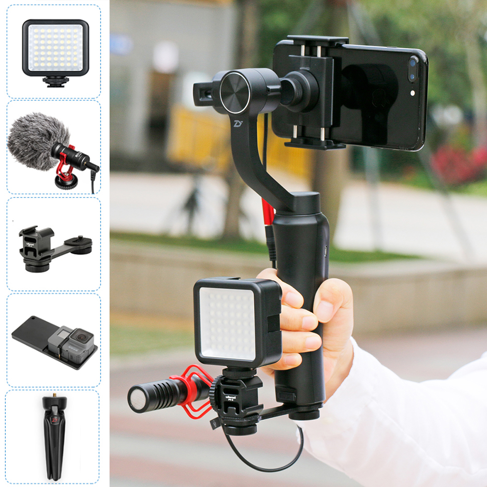 Zhiyun 3-Axis Smooth 4 Gimbal Bluetooth Handheld Video Stabilizer Steadicam APP control for iPhone X 7plus Gopro 6 Fillmakers