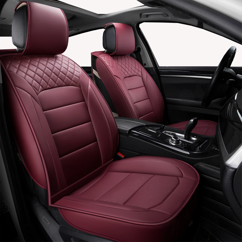 Front Rear Universal leather car seat covers For Mitsubishi all models ASX outlander lancer pajero