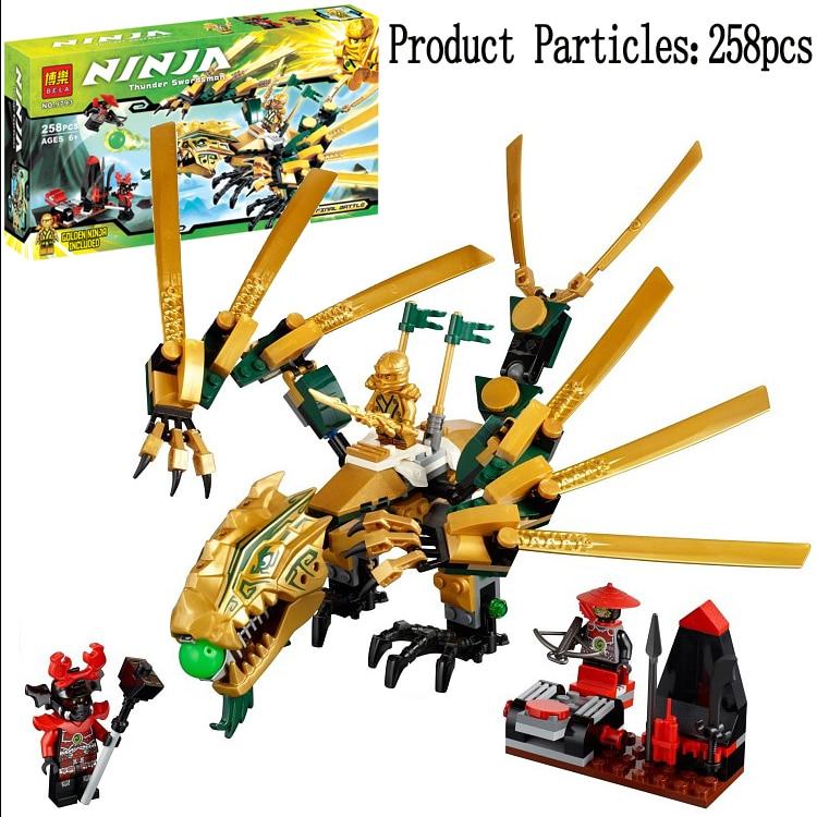 Phantom Ninja Series Golden Dragon Lloyd Jay Cole Kai Ninjagoed Model Building Blocks DIY Bricks Toys Gifts Compatible with POGO