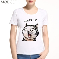 MOE CERF 2017 Kawaii French Bulldog Dogs Design T Shirt Women Summer Hipster Short Sleeve Teen