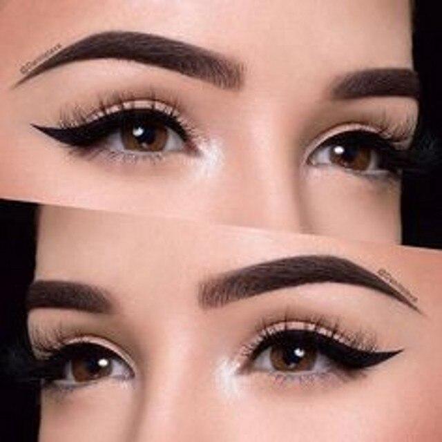 2016 Real Full Professional Makeup Kit Makeup Sets 022 Free Shipping Tattoo Eyebrow /black Eyebrows Human Hair/free Stencils