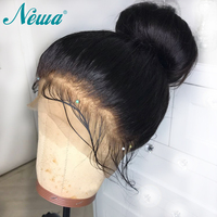 360 Lace Frontal Wigs With Baby Hair Straight Brazilian Remy Hair Pre Plucked 100% Human Hair Lace Front Wigs For Women NYUWA
