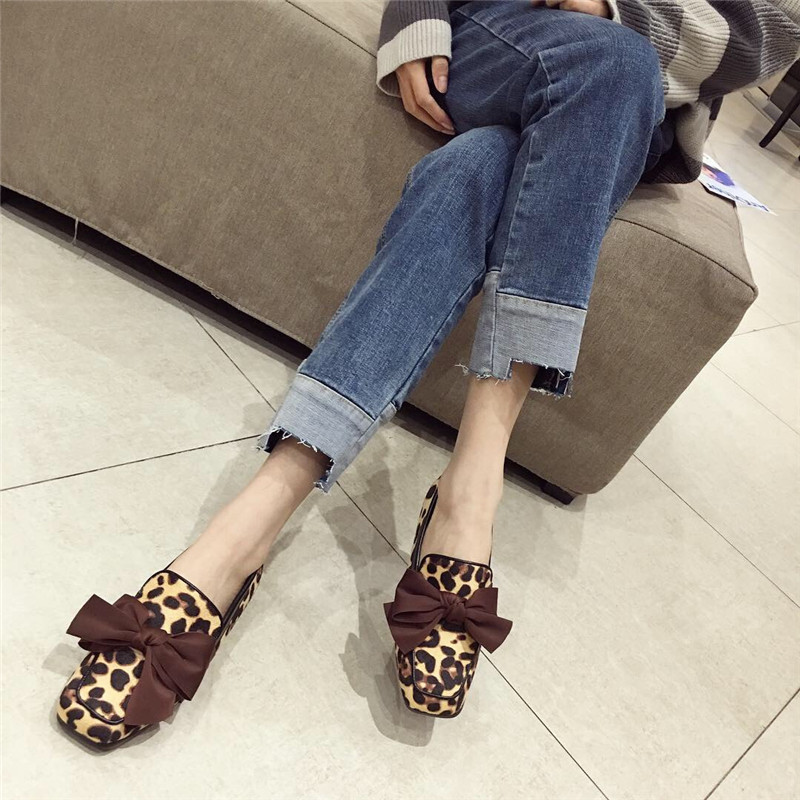 Wellwalk Ballet Flats Woman Shoes Leopard Loafers Women Ballerina Flats Shoes Ladies Black Flats Female Moccasins Shoes Spring 19