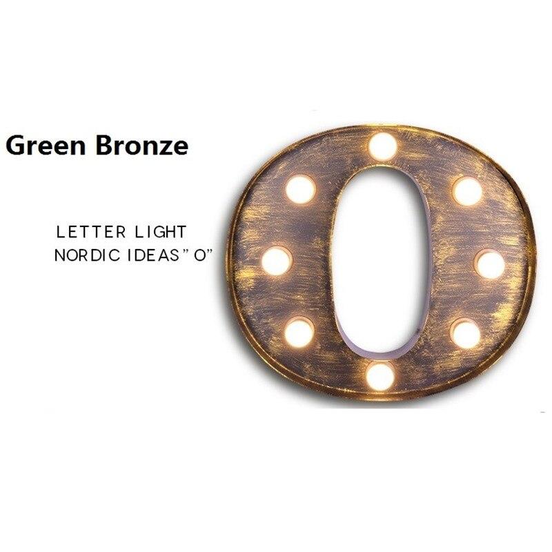 BOCHSBC железные настенные бра буквы O огни американская индивидуальная промышленная настенная лампа для бара кафе рекламный щит старинная буква свет - 5