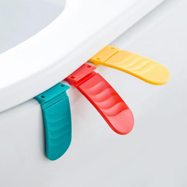 Foldable Toilet Lid Seat Cover Lifter Bathroom Lift Handle Stick Avoid  Touching Portable Handle Toilet Seat