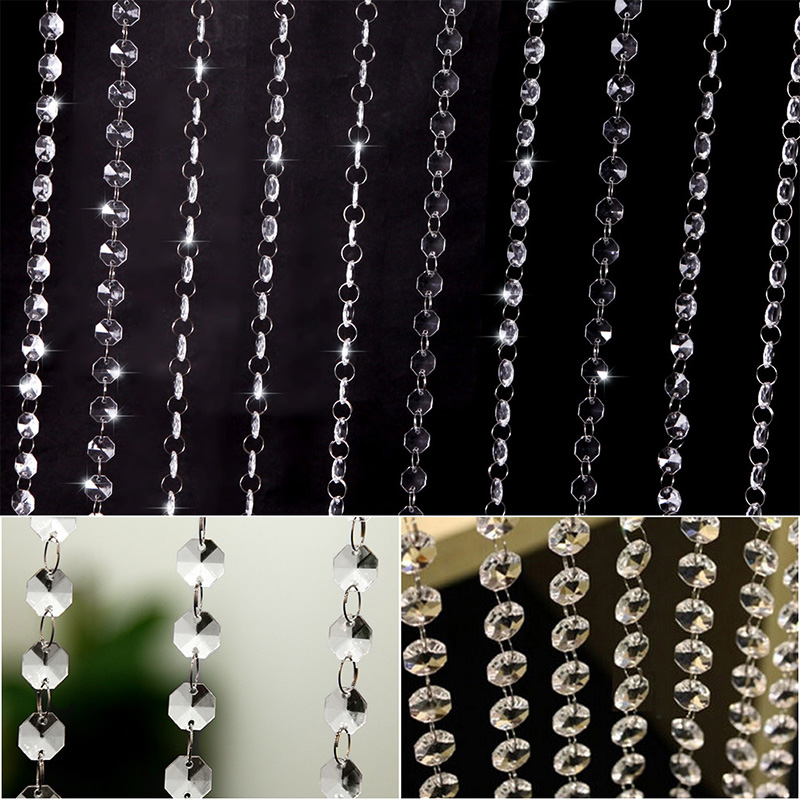 10 Meters Curtain Strand Hanging Acrylic Bead Curtain Diamond Chains Tree Wedding Party Bar Decoration