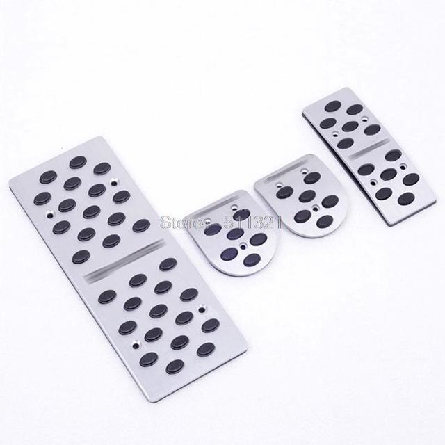 Aluminum Alloy MT Fuel Brake Foot Rest Pedals Plates Non-Slip Pedal Plate 4PCS/SET Fit for Hyundai i30 2011 2012