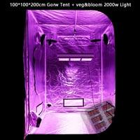 Освещение для растений расти палатки Box полный спектр 600 Вт 1200 Вт 2000 Вт для внутреннего парниковых семена гидропоники и цветения светодио дн