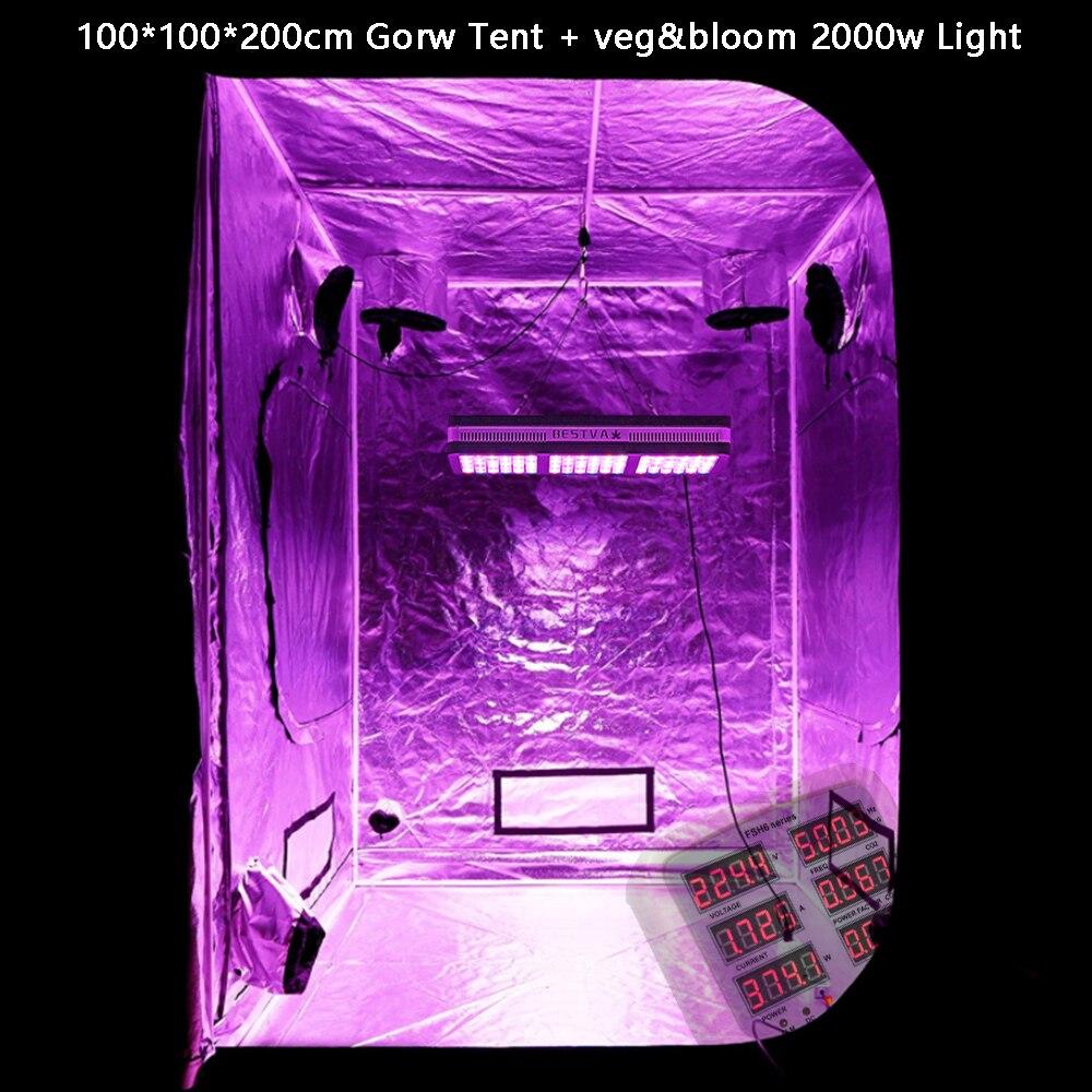 Caixa de plantas Luzes Crescer Tenda Espectro Completo 600 w 1200 w 2000 w Para Hidroponia com efeito de estufa Indoor Sementes e floração levou cresce a luz