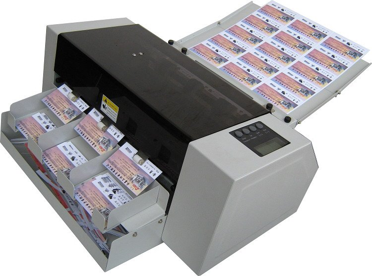 Multi function full auto card cutter qk a3automatic card cutter a32g reheart Choice Image