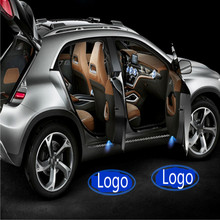 JURUS Wireless Car Door Welcome light Logo No Drill Type Badge For Arsenal Chelsea Juventus Real Madrid AC Milan CLUB