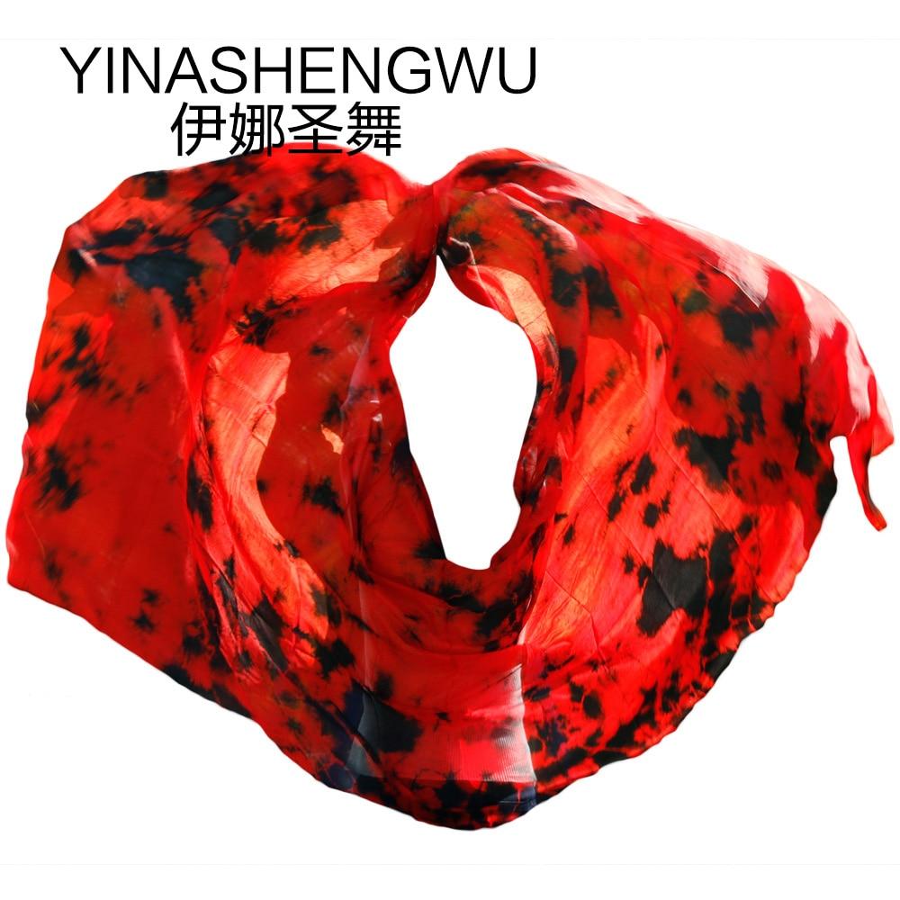 Belly Silk Veils High Quality Dance Veils Handmade Natural Silk Belly Dance Veils  Dance Props Silk Veils Color Mixing