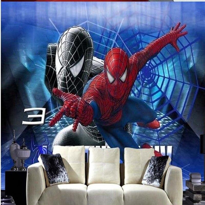 Popular Spiderman Wallpaper-Buy Cheap Spiderman Wallpaper