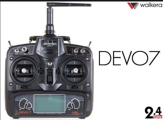 Walkera 2.4ghz 7ch Devo7 Devo Radio TransmitterW/big LCD + Receiver RX701 DSSS