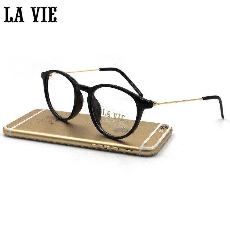 Gafas transparente grado femenino Marcos S para Gafas adulto ronda  transparente Gafas óptico Marcos para oculos lente 8093 8755fee233