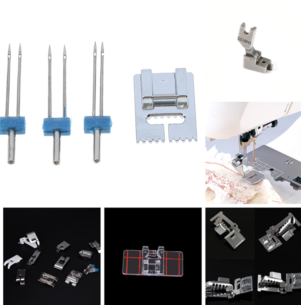 Domestic Sewing Machine Accessories Presser Foot Feet Kit Set Hem Foot Spare Parts For Brother Singer Janome