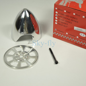 Image 1 - CNC Aluminum Alloy Spinner 3.5inch/89mm Two Blades Prop Special Drilled For DLE55 EME55 DLE30 Engine