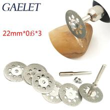 цена на 22mm 10pcs  Accessories Diamond Discs Metalworking Circular Saw Cutting Disc For Engraver Electric Mini Drill without Rod ZK33