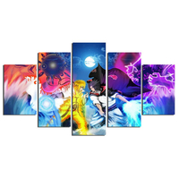 Modular Pictures Tableau Decoration Murale Print Fabric Paint Cartoon Characters Movie Poster Image Canvas Prints Free