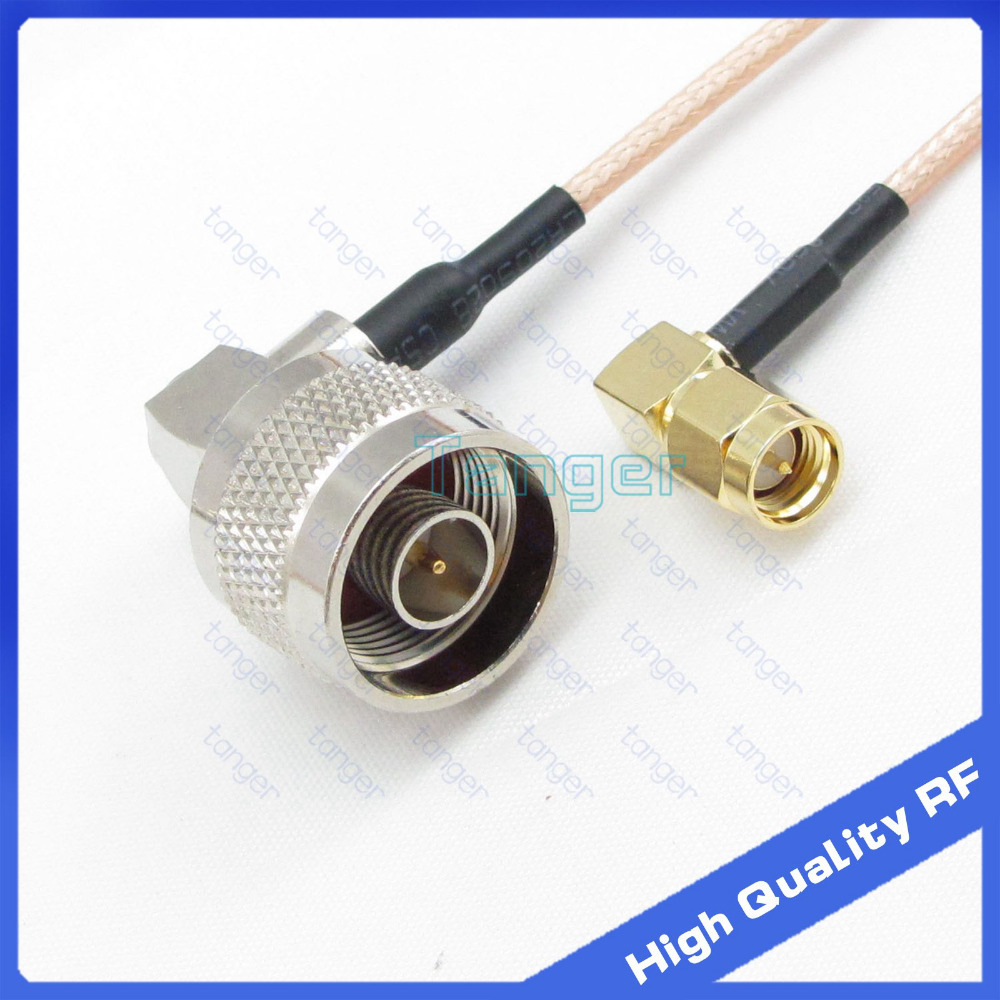 10pcs SMA male RA to SMA male right angle RF extension cable pigtail RG316 20cm