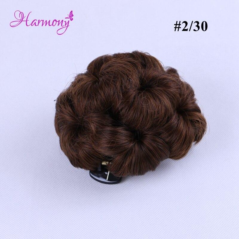 Curly Hair Bride Makeup Bun Blommor Chignon Claw på Ponytail - Hårvård och styling - Foto 5