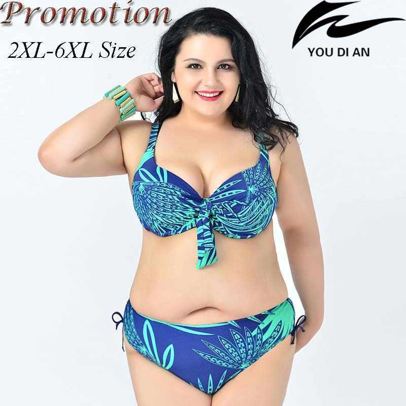 60d2f58cc446 cheap promotion hot push up sexy plus size bikini large size bikinis set t  swimwear swimsuit women big size 2XL to 6XL