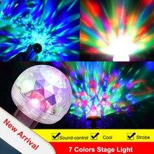 Light Organ RGB  Stage Disco Light Night Light Cool DJ Ball Lighting  7 Colors Small Lights Gift for Bar Decoration