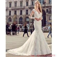 dbd4c25afa Vestido De Noiva suknia ślubna cywilnego rustykalne rocznika długim rękawem  suknie ślubne koronkowe Backless seksowna suknia ślu.
