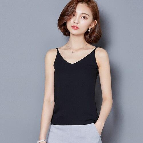 PML Nouveauté 2018 Mode d'été Femmes Sexy Chemise Basique Col V Bracelet All Match T-shirt