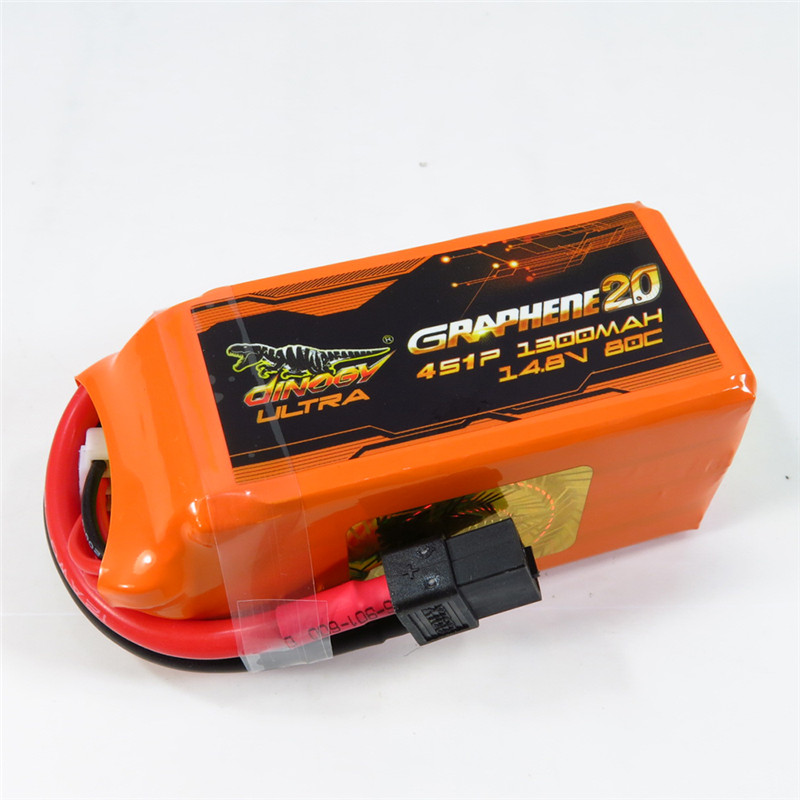 Giant Power DINOGY ULTRA GRAPHENE 2.0 14.8V 1300mAh 80C 4S Rechargeable Lipo Battery XT60 Plug For RC FPV Racing eachine 14 8v 1300mah 4s 35c xt60 lipo battery for rc multirotors