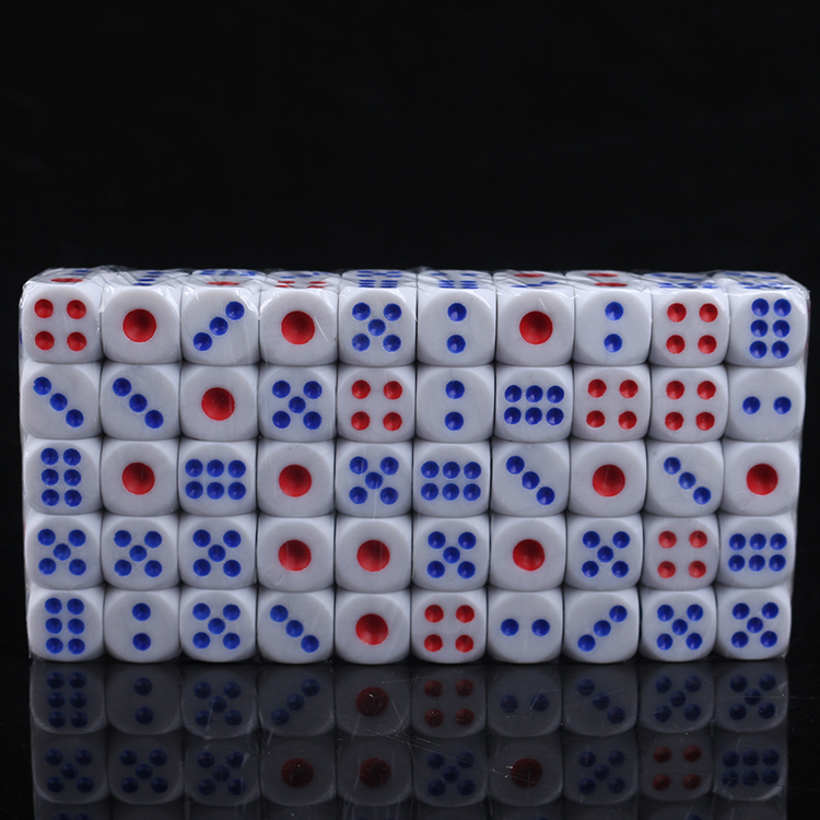 100 pcs dice set high quality acrylic crystal 100pcs/pack gambling card game drinking dice nightclub bar party games accessories(China)
