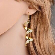 1 pair earrings joyas de plata brinco prata boucle doreille argent earrings pendientes dragons chaqueta mujer SEJ0019 gold earrings for women