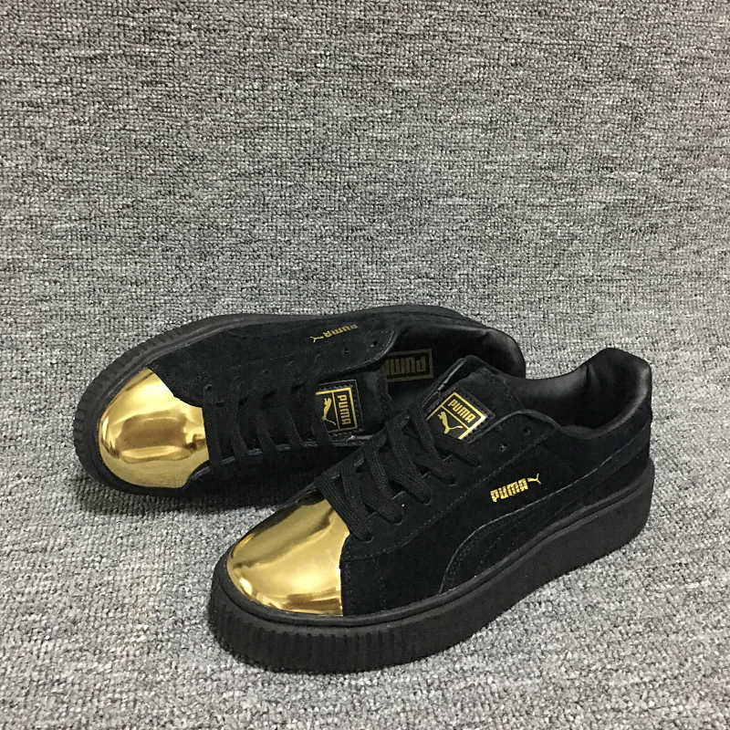 6891ae4f32 2018 New PUMA Suede Platform Crushed Jewel Women's Sneakers Rihanna classic  color tone simple Badminton Shoes Size 36-39