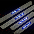 chorme decorative escutcheon LED door sills thresholds for Toyota RAV4 2007- 2009 2011 2012 2013 car styling auto accessories
