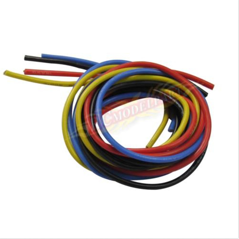 14# Gauge Silicone Wire 14AWG Flexible Silicone Wire 4 color each 1 ...