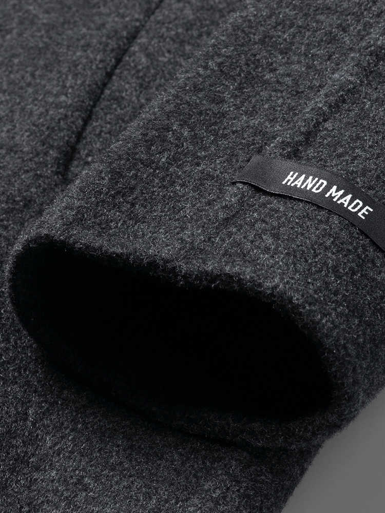 AYUNSUE ручной работы 100% шерстяное пальто для мужчин Двусторонняя длинная куртка для мужчин осеннее пальто для мужчин s пальто и куртки Abrigo Hombre KJ1575