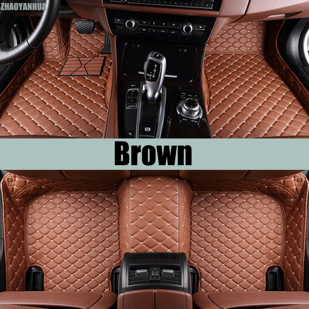 ZHAOYANHUA Car floor mats for Citroen C4 Air Cross Picasso C2 C4L C-elysee DS5 LS DS6 5D car styling carpet floor liner for citroen c4 picasso ud