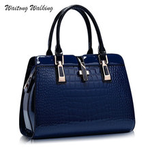 Luxus Frauen Tasche Leder Alligator Handtaschen Designer Cross Schnalle Marke Meaaenger Vintage Umhängetaschen Bolsa Feminina b201