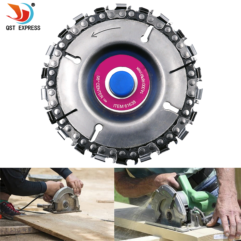 4 Inch Grinder Disc And Chain 22 Tooth Fine Cut Chain For 125x22mm Angle Grinder