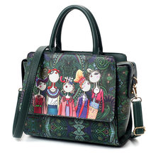New Style Original Modern Girl Printing Pattern Large Capacity Handbag  Fashionable Style Shoulder Bag PU Leather Bags For Women ce07ea3db9879