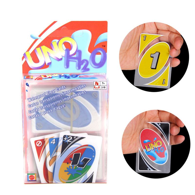 Waterproof UNO: H2O Board Game 2-10 Players Family/Party Best Gift for Children Cards Game Funny Game
