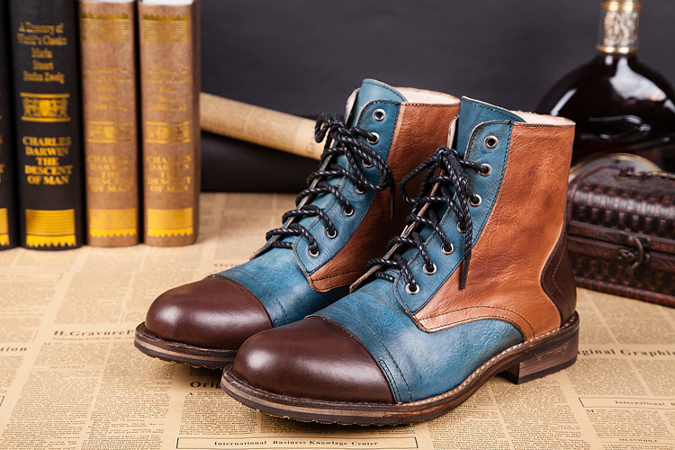 Aliexpress.com : Buy British Style Men Winter Boots Genuine ...