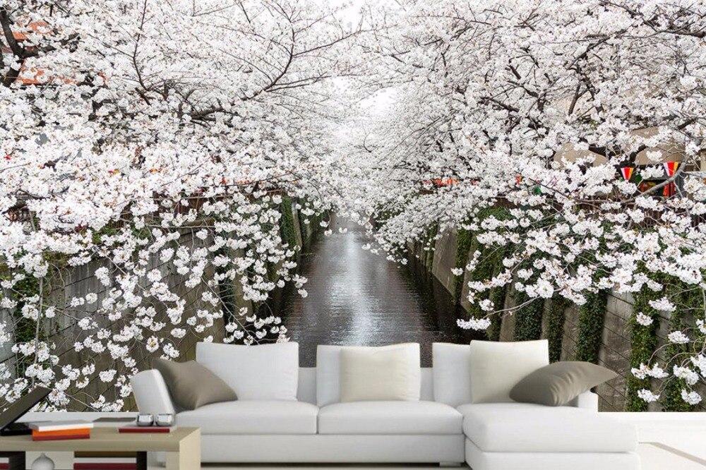 Carta Da Parati Fiori Di Ciliegio : Semplice e moderno personalizzare hd paesaggio fiori di ciliegio