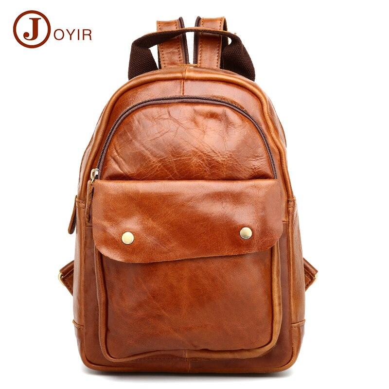 JOYIR School students women bags backpack genuine leather bag Luxury Womens Shoulder Travel Backpacks women gift
