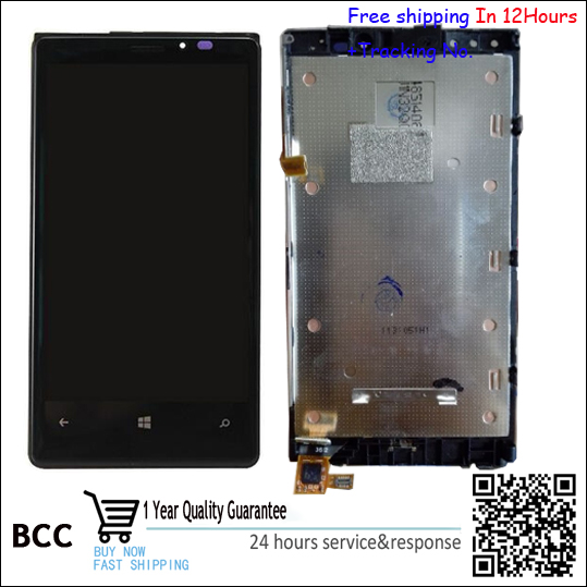 100% Original Test Ok LCD Display Touch Screen Digitizer Bezel Frame Full Assembly For Nokia Lumia 920 LCD Black Free shipping!! black lcd display touch screen digitizer assembly with bezel frame for nokia lumia 1520 replacements part free shipping
