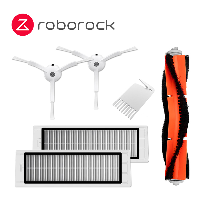 Original Roborock Wiaowa XIAOMI Robot Vacuum Cleaner Spare Part Pack Kits Mopping Water Filter Side Brush HEPA Filter Roller