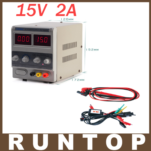 ФОТО 220V YIHUA 1502DD 15V 2A Adjustable DC Power Supply LED Display Mobile phone repair power test regulated power supply