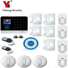 YobangSecurity IOS Android APP GSM WIFI GPRS RFID Touch Pad Home Alarm Security System Smoke Fire