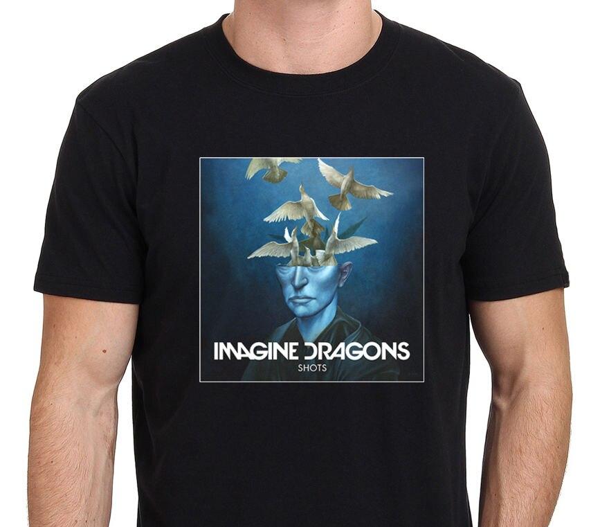 Представьте Драконы снимков EP Обложка альбома футболка Для мужчин черный Размеры: S-XXL