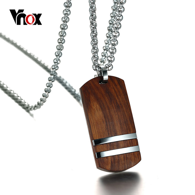 Vnox top rosewood men necklace unique qualified wooden pendants vnox top rosewood men necklace unique qualified wooden pendants necklaces stainless steel jewelry adjustable chain aloadofball Image collections